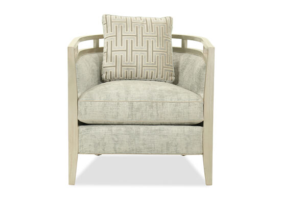 Contemporary Curved Back 28'' Chair in Sea Foam Green