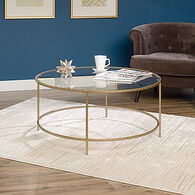 MB Home Haute Satin Gold Round Coffee Table