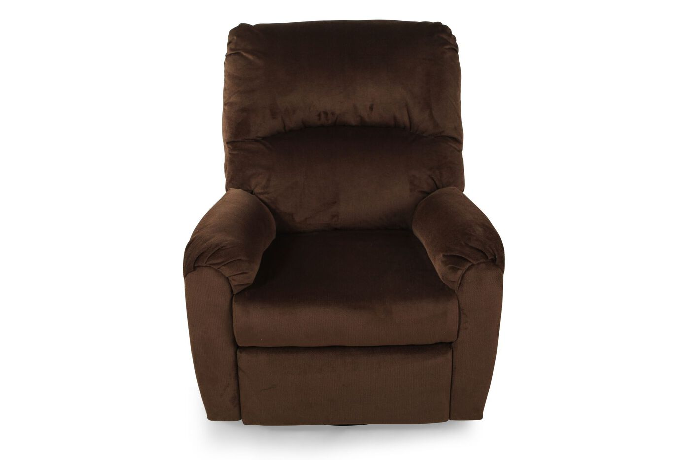 contemporary 34 swivel recliner in umber mathis brothers furniture. Black Bedroom Furniture Sets. Home Design Ideas