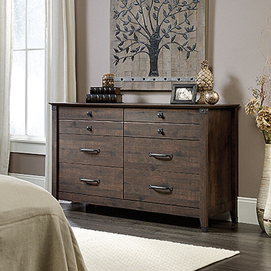 "34"" Contemporary Six-Drawer Dresser in Coffee Oak"