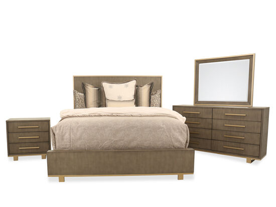 Four-Piece Traditional King Bedroom Suite in Brown