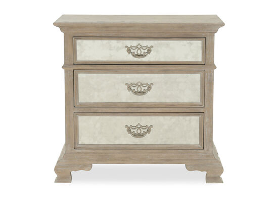 "32"" Refined Romantic Luxury Bachelor's Chest in Weathered Sand"
