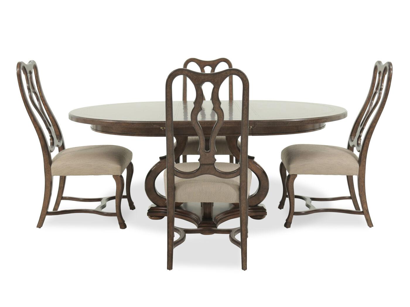 a r t furniture firenze ii dark oak five piece round dining table