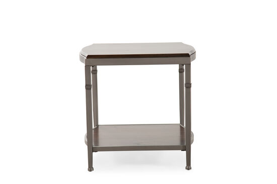 Traditional End Table in Chocolate Brown