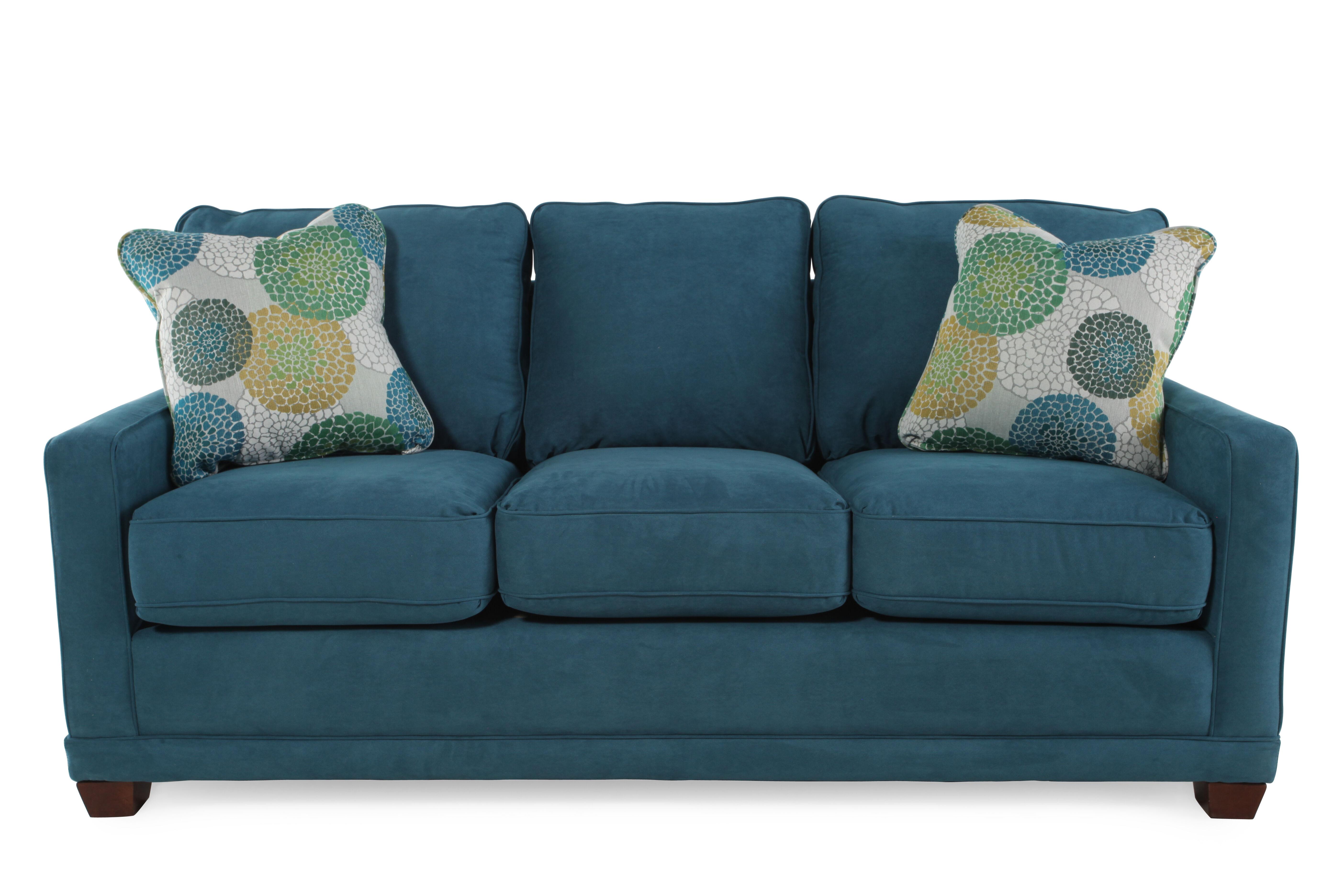 lazboy kennedy teal sofa