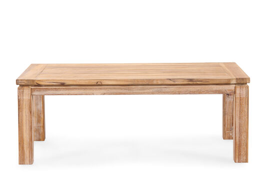 Casual Square Leg Coffee Table in Light Brown