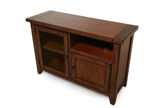 Two-Door Country Console in Saddle Brown