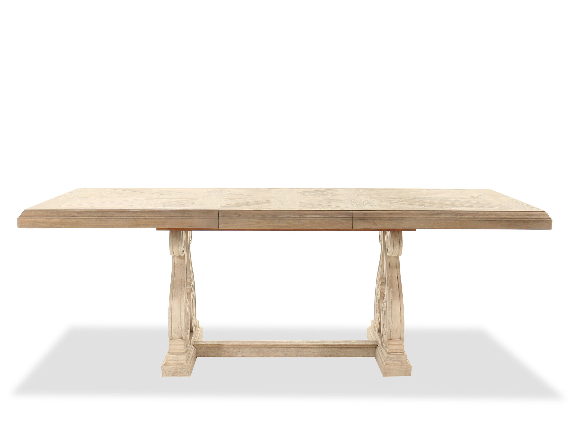 Images Traditional Rectangular Trestle Dining Table In Light Oak ...