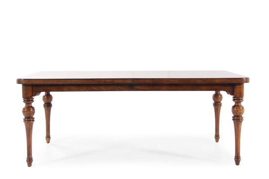 "Casual 78"" to 114"" Rectangular Dining Table in Roasted Chestnut"