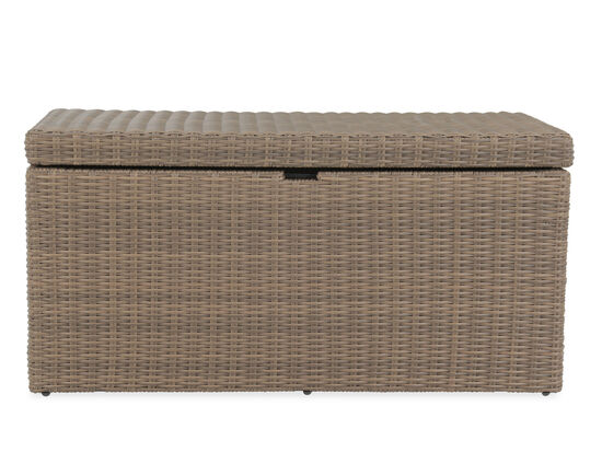 Contemporary All-Weather Wicker Storage Box in Brown