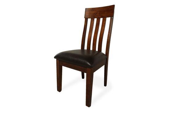 Two-Piece Slatted Back 40'' Side Chair Set in Rustic Oak