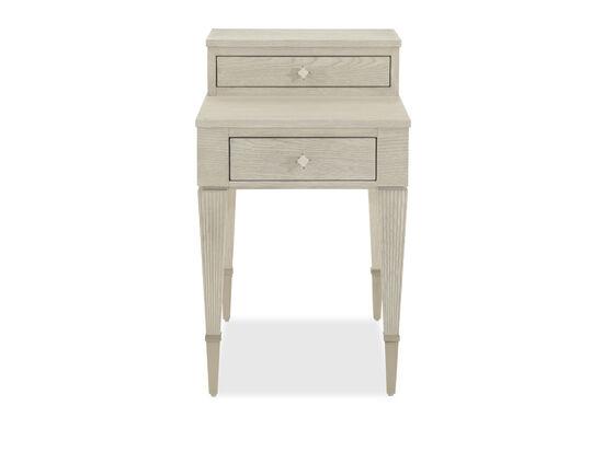 Rectangular Modern End Table in White
