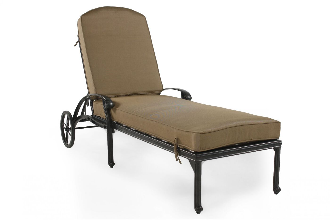 Aluminum chaise lounge in bronze mathis brothers furniture for Aluminium chaise lounge