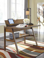 """42"""" Flip-Top Casual Desk in Light Brown"""