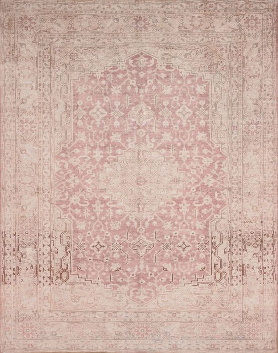 """Traditional 1'-6""""x1'-6"""" Square Rug in Terracotta/Ivory"""