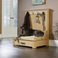 Contemporary Entryway Dog Bed in Light Ash