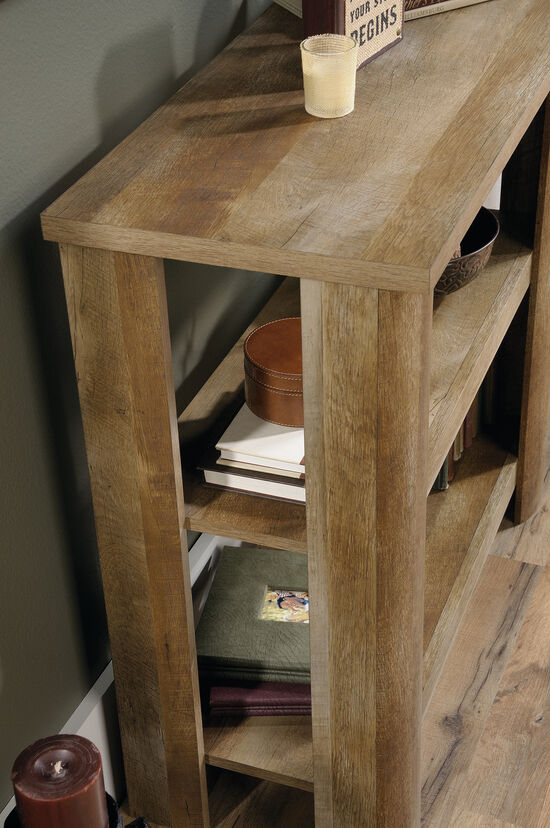 Two-Shelf Casual Bookcase in Craftsman Oak