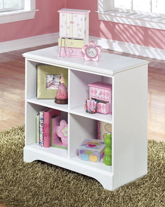 Four-Shelf Casual Bin Storage in White