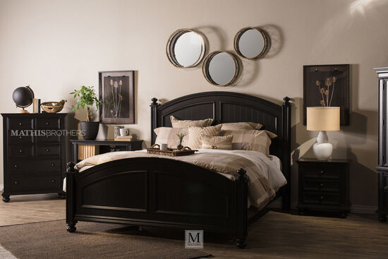 Winners Only Cape Cod Ebony California King Panel Bed