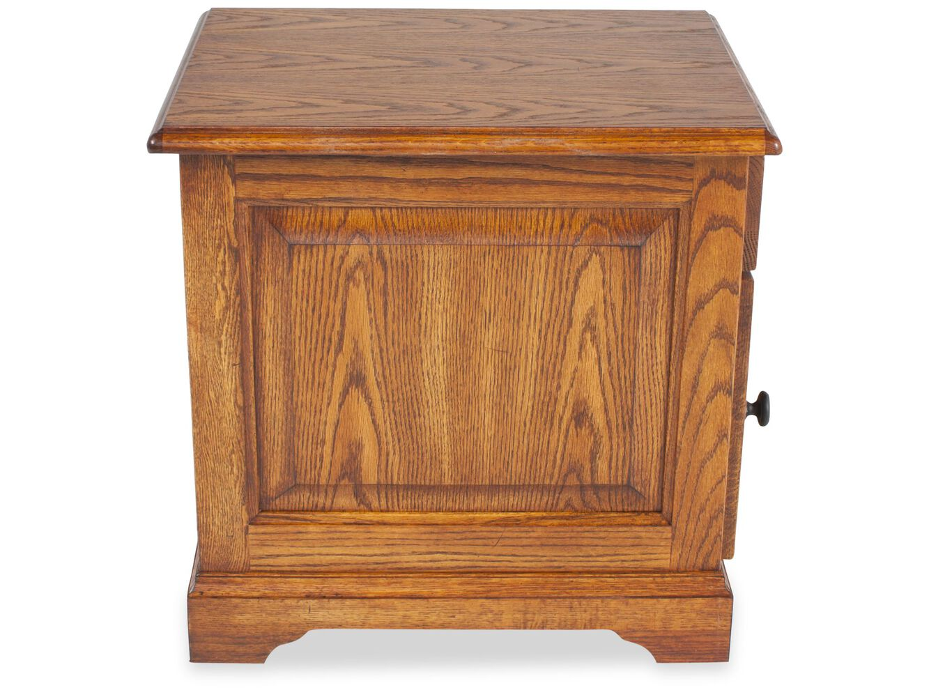 Square Country End Table In Golden Oak