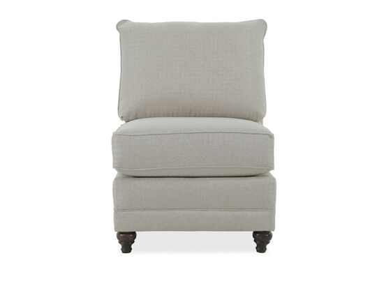 Casual Armless Chair in Gray