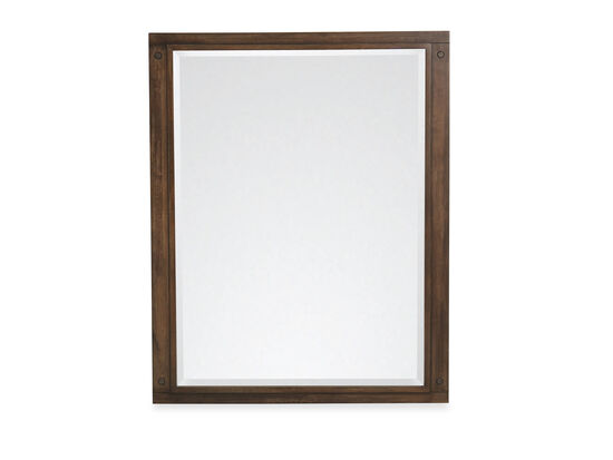 Vertical Youth Bedroom Mirror in Oiled Oak