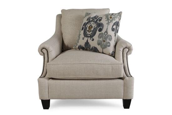 "Weave Textured European Classic 38.5"" Chair in Dark Cream"