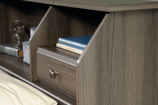 """Contemporary 42"""" Full/Queen Bookcase Headboardin Diamond Ash"""