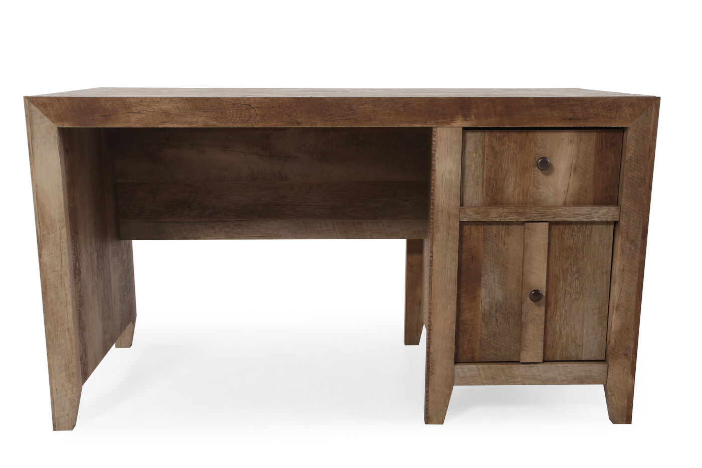Images 44 Contemporary Two Drawer Desk In Dark Oak