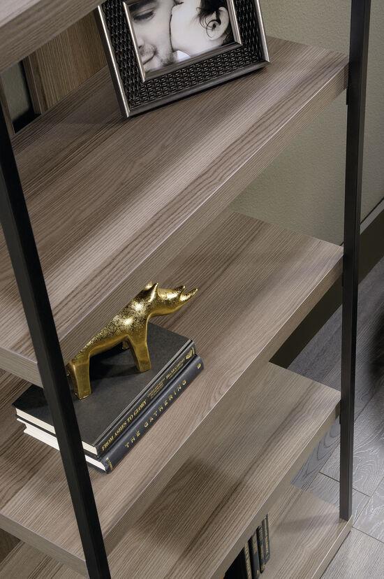 Contemporary Open Bookcase in Diamond Ash