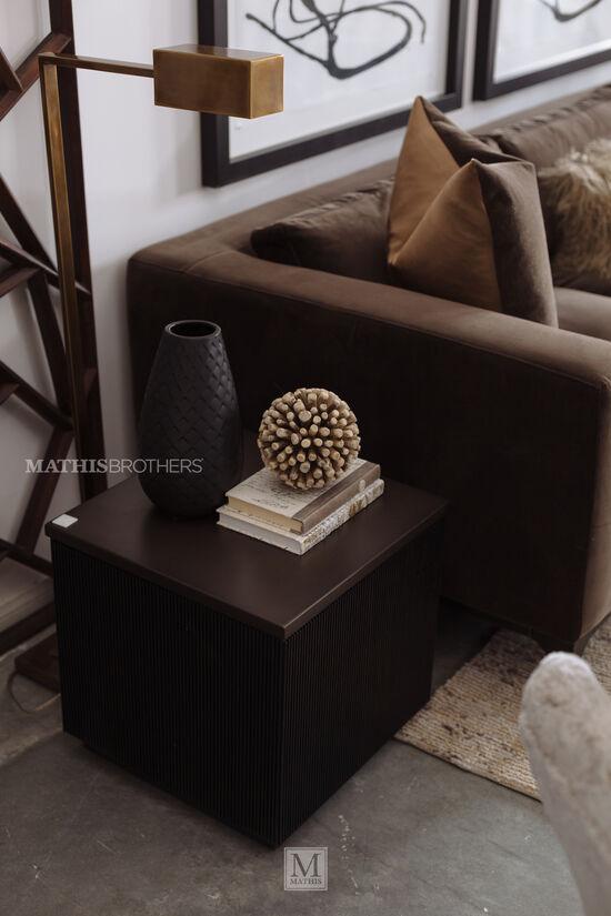 Modern End Table in Dark Brown