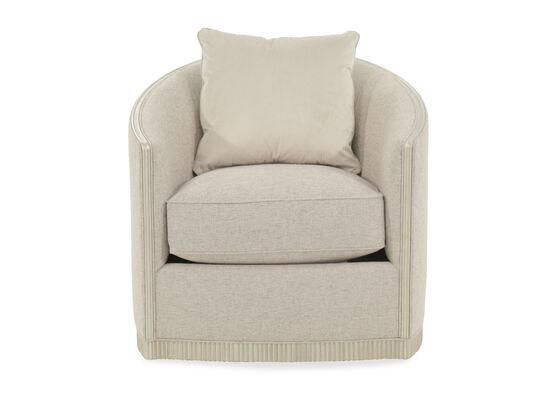 "Exposed Rail Contemporary 31.5"" Swivel Chair in Cream"