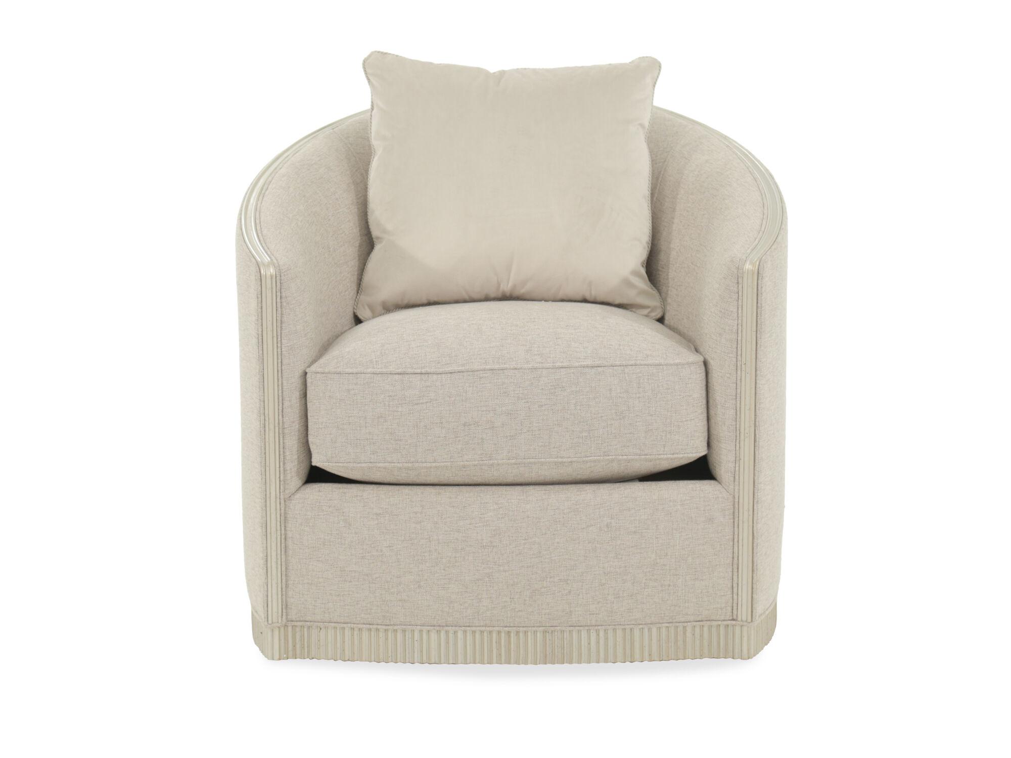 Images Exposed Rail Contemporary 31.5u0026quot; Swivel Chair In Cream Exposed  Rail Contemporary 31.5u0026quot; Swivel Chair In Cream