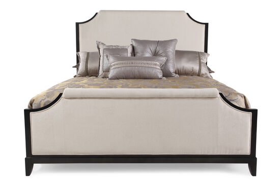 "67"" Contemporary Notched Panel Bed in Platinum"