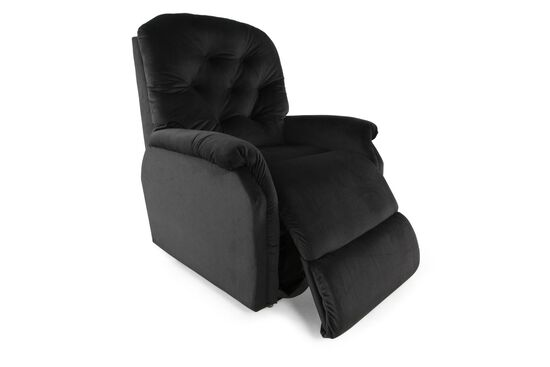 """Contemporary Button-Tufted 35"""" Lift Recliner in Navy"""