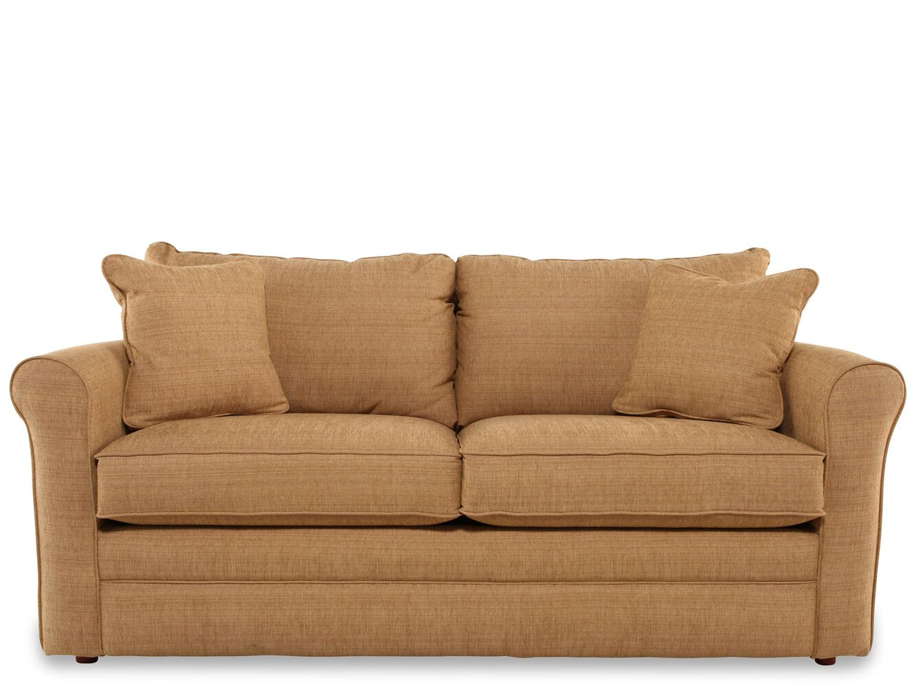 transitional 82 queen sleeper sofa in light brown mathis brothers furniture. Black Bedroom Furniture Sets. Home Design Ideas