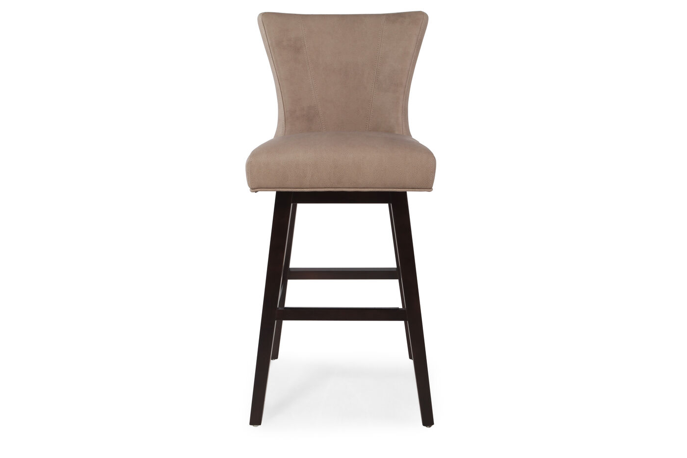 Contemporary 43 Quot Swivel Bar Stool In Saddle Brown Mathis