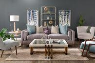 "Jonathan Louis 89"" Contemporary Sofa in Gray"