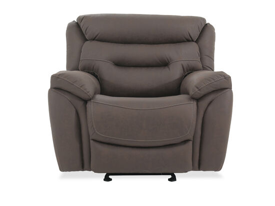 "Casual Pillow Top Arm 45"" Power Recliner in Chocolate"