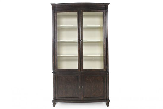 New Classics Rectangular China Cabinet in Brown