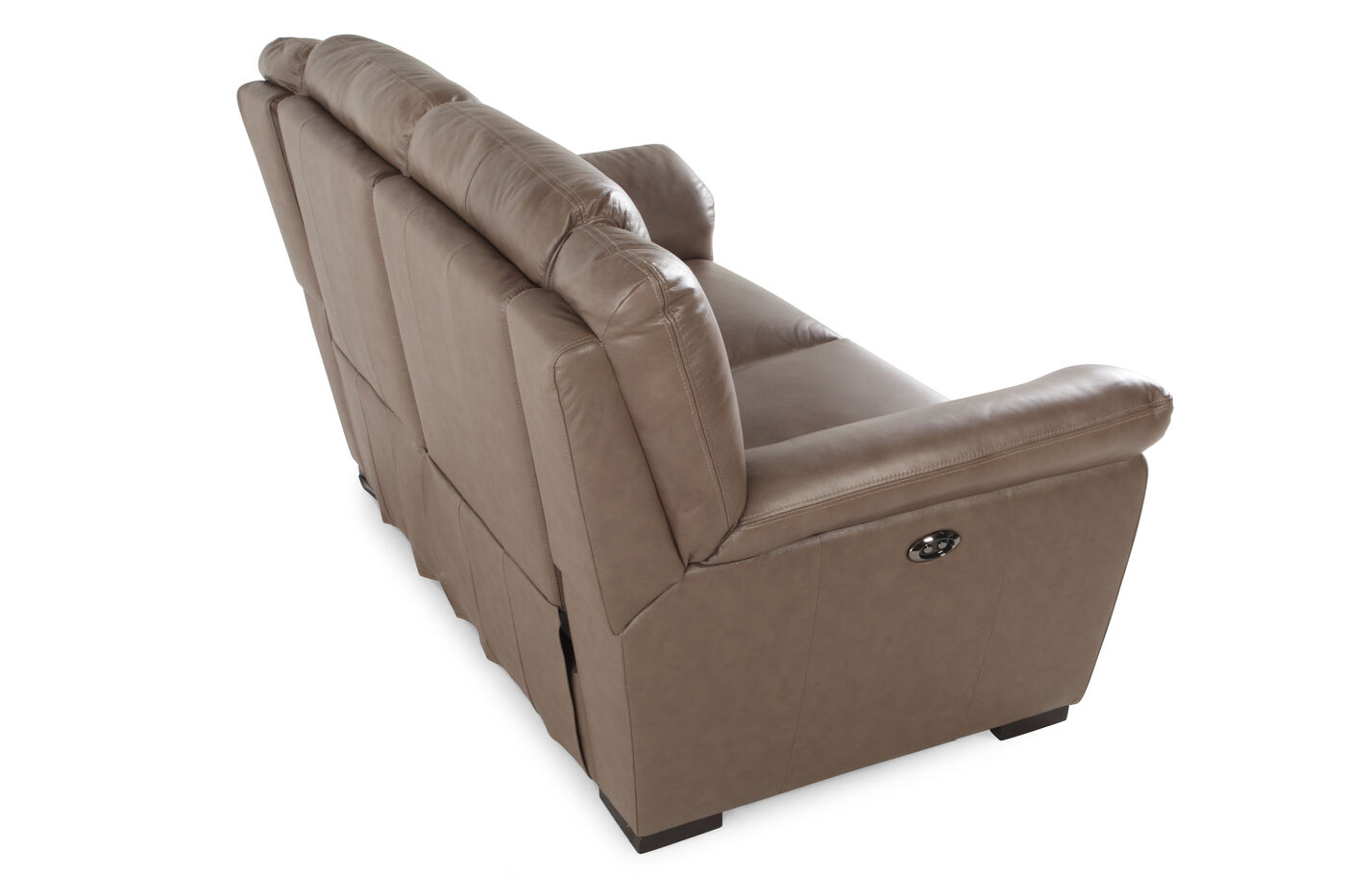 Power Reclining Contemporary 66 Loveseat In Nutmeg Brown Mathis Brothers Furniture