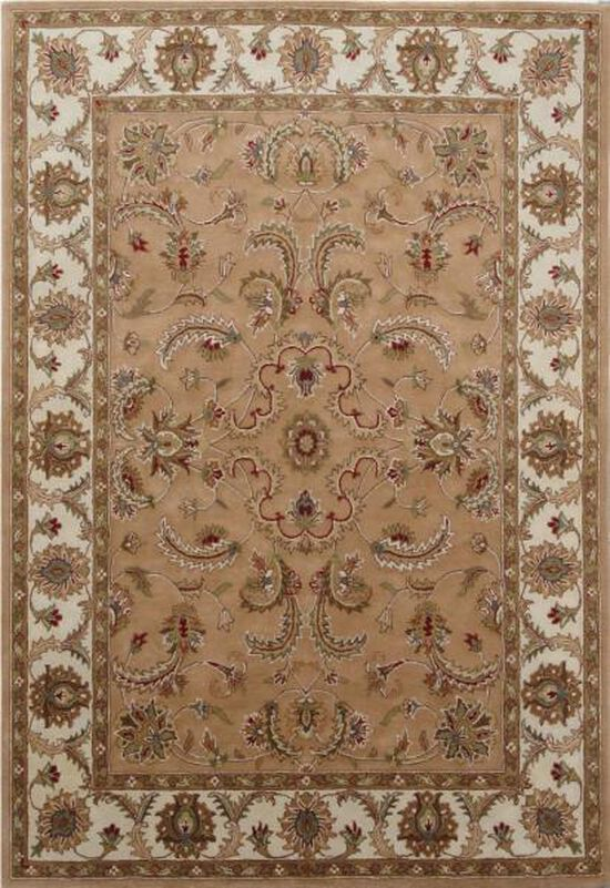 LB Hand Tufted Wool Camel/Ivory Traditional Rug