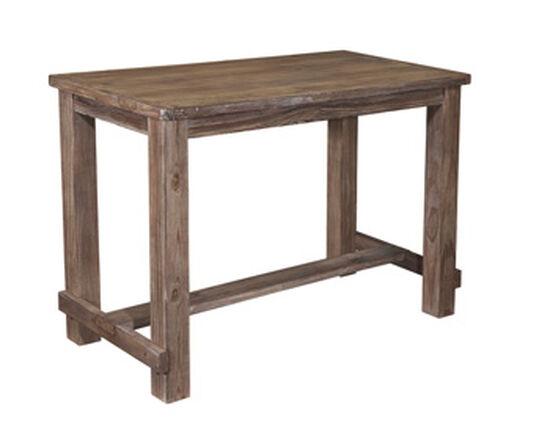 "Casual 60"" Rectangular Bar Table in Light Brown"
