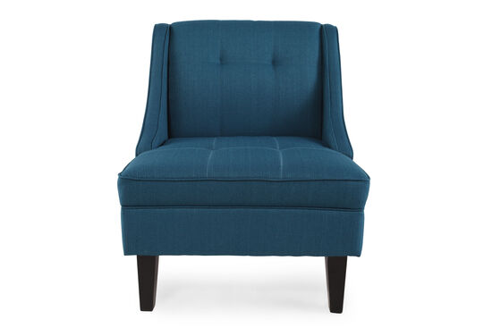 """Tufted Contemporary 28"""" Accent Chair in Blue"""