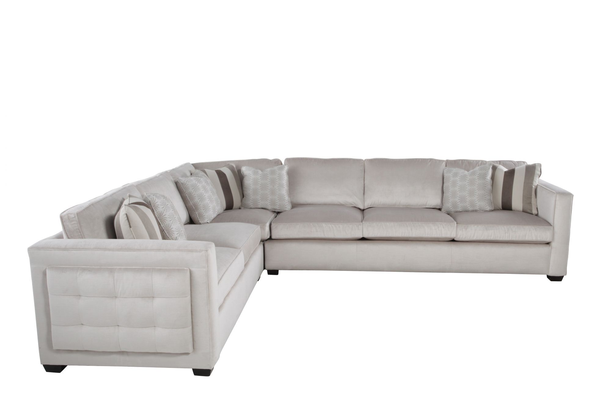 Bernhardt Interiors Lucerne Three-Piece Sectional  sc 1 st  Mathis Brothers : bernhardt sectional leather - Sectionals, Sofas & Couches