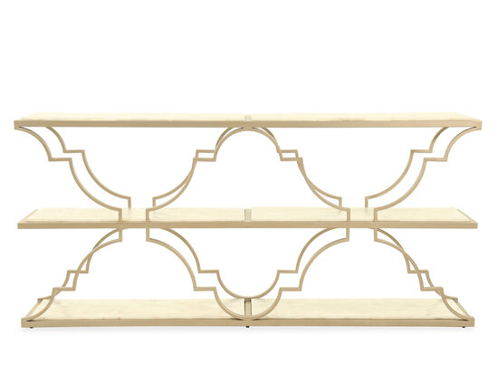 One-Shelf Traditional Accent Console in Gold