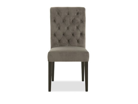 """Button-Tufted 20"""" Dining Chairin Gray"""