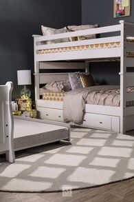 Trendwood Laguna White Twin Over Full Bunk Bed
