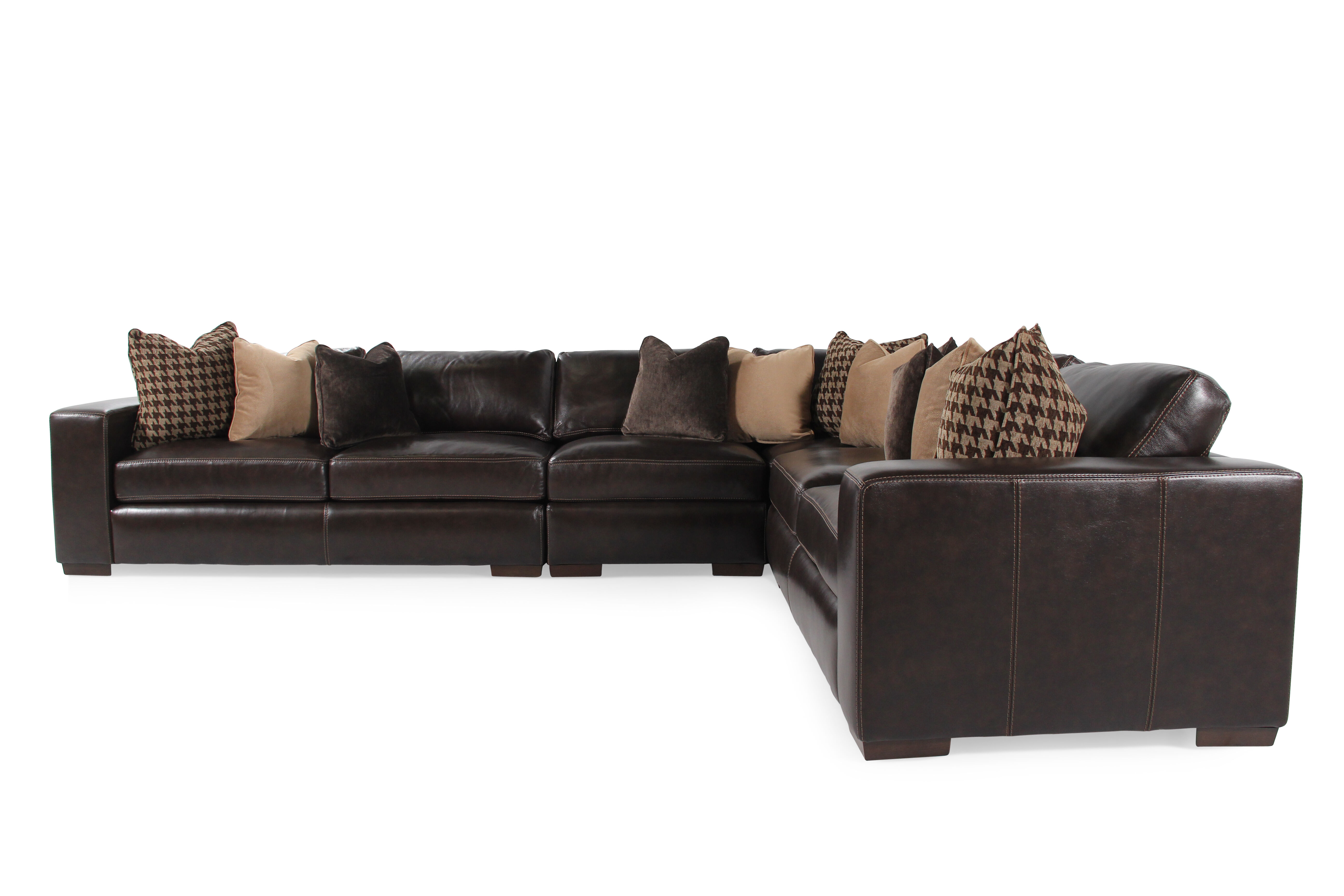 Bernhardt Dorian Leather Sectional  sc 1 st  Mathis Brothers : bernhardt leather sectional - Sectionals, Sofas & Couches