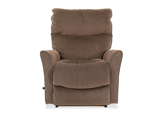 "Casual 34"" Rocker Recliner in Dark Granite Gray"